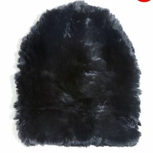 Eugenia Kim black fur beanie